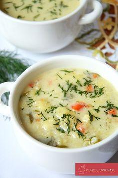 Zupa kalafiorowa- mój smak dzieciństwa! :) Jest to jedna z najlepszych i najsmaczniejszych zup, które dość często przygotowuję. Clean Recipes, Soup Recipes, Vegetarian Recipes, Cooking Recipes, Healthy Recipes, B Food, Good Food, Yummy Food, Light Soups