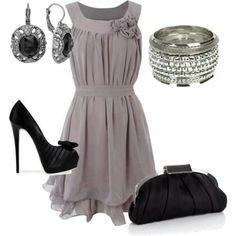 Vestido gris!