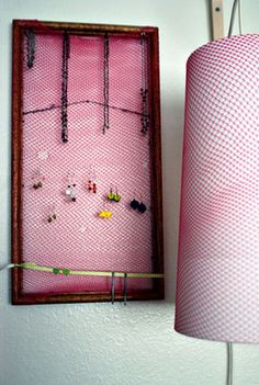 diy pink jewelry board