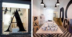 typography pop up shop