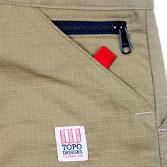 Topo Designs' Mountain Pants. Mens Chino Pants, Mens Trousers Casual, Fashion Pants, Mens Fashion, Pocket Detail, Fashion Details, Alter, Men Dress, Menswear