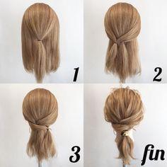 いいね!2,257件、コメント14件 ― Shinichi Mogiさん(@mogi0211)のInstagramアカウント: 「【絶対できるシリーズ】 縛るだけ簡単アレンジプロセス★ . ①トップを縛ります。 . ②サイドをやや左に寄せて縛ります。 . ③その下を適度にとって、 右に寄せて縛ります。 .…」 Classic Hairstyles, Easy Hairstyles, Hair Arrange, Bad Hair Day, Crazy Hair, Updos, Great Hair, Dreadlocks, Braids