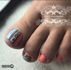 Pedicure Designs, Diy Nail Designs, Manicure And Pedicure, Toe Nails, Nail Art, Nail Pics, Manicures, Beauty, Art Ideas