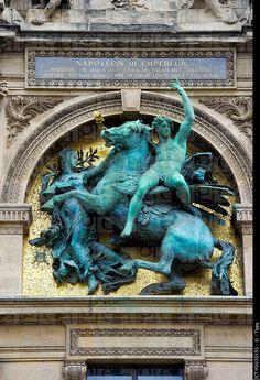 France, Paris Ile de France, the Louvre, statue of Napoleon III Art And Architecture, Architecture Details, Louvre Palace, Monuments, Napoleon Iii, Paris Ville, I Love Paris, Paris Travel, Stock Pictures