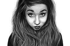 Karolina Realism Portrait #art #illustration #girl #beautiful #lady #portrait #hair