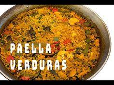 Paella de Verduras Restaurante Mena Denia (ArturG) - YouTube Paella Valenciana, Curry, Pasta, Ethnic Recipes, Youtube, Food, Delicious Recipes, Diners, Meals