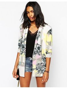 River Island Geo Print Jacket - Multi http://sellektor.com/all?q=river+island