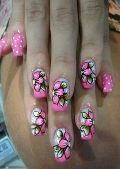 So awesome Claire's Nails, Fingernails Painted, Hot Nails, Pink Nails, Nail Designs Spring, Toe Nail Designs, Pedicure Nail Art, Flower Nail Art, Beautiful Nail Art