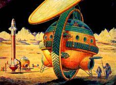 Retro-Futuristic, Sci-Fi, Rolling Space Vehicle