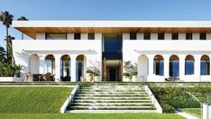 Pergola, Palm, Outdoor Structures, Mansions, House Styles, Home Decor, The Sea, Decoration Home, Manor Houses