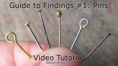 How to use eyepins, headpins, ballpins (Taltys Guide to Findings If youre making polymer clay jewelry the first thing you need to know how to use is pins to hang your charms, Ill give you useful tips to use them! Fimo Polymer Clay, Polymer Clay Jewelry, Handmade Beaded Jewelry, Custom Jewelry, Personalized Jewelry, Jewelry Making Tutorials, Tools For Jewelry Making, Diy Jewelry Tools, Jewellery Diy