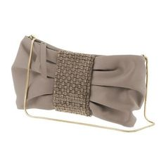 Banana Republic Juliette Satin Bow Clutch ($120) ❤ liked on Polyvore