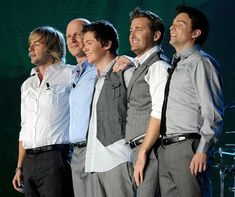 these gents are the original five members of Celtic Thunder l to r they are Keith Harkin, George Donaldson, (now deceased) Damian McGinty, Paul Byrom, Ryan Kelly. Irish Boys, Irish Men, Folk Music, Music Tv, Ryan Kelly, Irish Singers, Celtic Music, Celtic Thunder, Photo Book