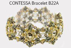 CONTESSA B SuperDuo and Swarovski Rivoli Beadwork by bead4me