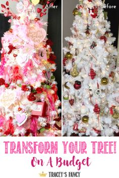 Transforming your Christmas tree.into a Valentines tree - Trend Dollar Tree Gifts 2019 Diy Valentine's Day Home Decor, Valentine's Day Diy, Valentine Decorations, Christmas Tree Decorations, Christmas Tree Ornaments, Valentine Tree, Valentines, Tree Wallpaper Iphone, Dollar Tree Gifts