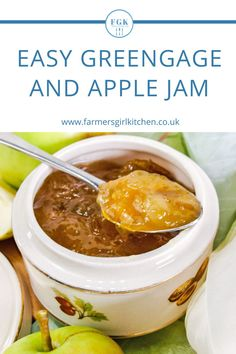 Greengage and Apple Jam is simple to make and a delight to eat. Serve the jam spread on bread, toast or scones. Use it to fill a cake or include it in a yogurt dessert, there are so many ways to eat this jam #greengages #apple #jam #easy #jelly Easy Summer Meals, Summer Recipes, Easy Meals, Types Of Plums, Yogurt Dessert, Chilli Jam, Apple Jam, Bread Toast, Jam Recipes