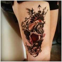 the cute thigh tattoos ideas and design for women Cute Thigh Tattoos, Leg Tattoos Women, Thigh Tattoo Designs, Best Tattoo Designs, Moon Tattoo Designs, Top Tattoos, Tattoo Designs For Women, Tatoos, Tiny Tattoos For Girls