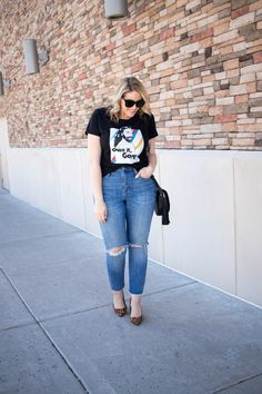 graphic tee and boyfriend jeans #madewell #ownitgorg #theweeklystyleedit