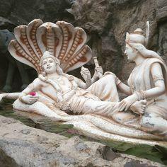 The Preserver - Nirmata Lakshmi giving Vishnu Foot Massage. Krishna Statue, Krishna Art, Hare Krishna, Indian Goddess, Durga Goddess, Lord Rama Images, Hindu Statues, Shri Hanuman, Lakshmi Images