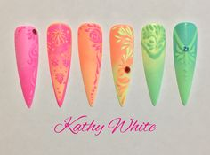 Gel design nails. Check out Kathy White Nail Training on Facebook.