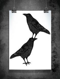 Jasper and Leroy - Illustration by Sofie Rolfsdotter #birds #poster