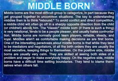 Haha, I was the middle child. I DEFINITELY was the opposite of my older bro.... Which wasn't exactly a good thing. Go individuality!