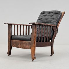 Read / library armchair (ballustrad) from the early 1900s. Adjustable backrest. With weak unexpired Art Nouveau lines - we were heading towards functionalism.