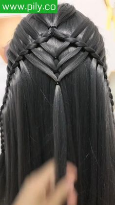 Bun Hairstyles For Long Hair, Braids For Short Hair, Girl Hairstyles, Braided Hairstyles, Hair Designs For Girls, Hair Curling Tips, Human Braiding Hair, Front Hair Styles, Hair Videos