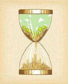 El tiempo se acaba, cuida de los recursos del medio ambiente