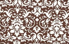 Chocolate Damask Fabric By The Yard by GeorgiaFabrics on Etsy, $5.99