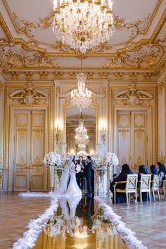 Wedding ceremony performed by The Paris Officiant in the fabulous Shangri La Paris Paris Elopement, Paris Wedding, French Wedding, Timeless Wedding, Dream Wedding, Wedding Beach, Wedding Stuff, Casa Steampunk, Shangri La Paris