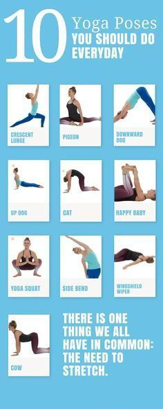 10 #yoga poses you should do everyday. #fitness #healthylifestyle