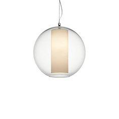Rippvalgusti Bolla, Seest värvilisest plastikust või tekstiilist sisuga ja läbipaistva klaaskupliga rippvalgusti.   Kodu rippvalgustid, Koduvalgustid, Disainvalgustid, Disain rippvalgustid.  Modoluce