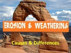 An introduction video to weathering and erosion that would open up the student's…