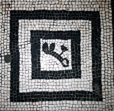 Baths Mosaic 3    One of the floor mosaics in the Terme Femminili in Herculaneum
