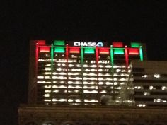 Chase Bank color changing in Chicago