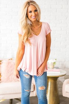 Feels Like Forever Top in Pink- $26