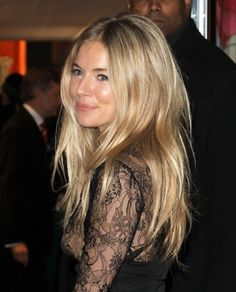 Sienna Miller long layered cut