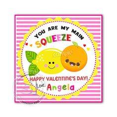 """Valentine's Printable Square Tags-Happy Valentines Personalized Tags, Valentine's """"Squeeze"""" printable -Stickers (You Print) Valentine Theme, Funny Valentine, Happy Valentines Day, Printable Tags, Printables, Happy Love, Personalized Tags, Diy Stickers, Sticker Paper"""