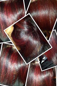 Elumen Red, Highlights, Natural Hair