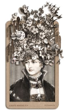 ⌼ Artistic Assemblages ⌼ Mixed Media, Journal, Shadow Box, Small Sculpture Collage Art - Isabella by ms.bailey.