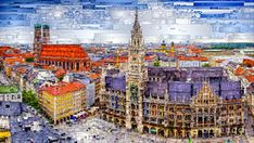 Digital Art - Munich Cityscape by Rafael Salazar