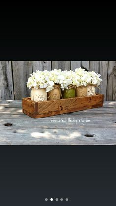Garden window box with mason jars... i want to make!!