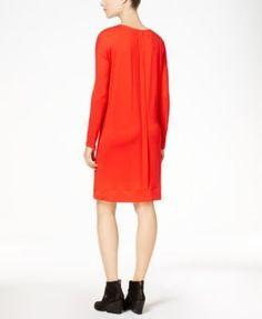 Eileen Fisher Stretch Jersey Surplice Dress, Regular & Petite - Orange XXS