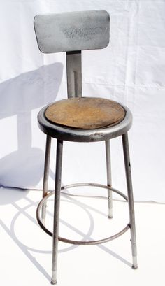 Vintage Industrial Shop steel stool/ adjustable by artandgoods, $124.95