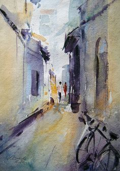 'The bike in a lane' Vijay Kakde This has a spontaneous look, a freshness that is appealing.