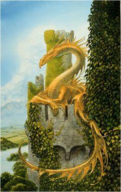 ~ John Howe. Yellow Dragon