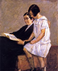 The Artist's Wife And Granddaughter, Max Liebermann (1847 – 1935, German) source:I AM A CHILD-children in art history