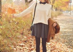 Most popular tags for this image include: fashion, autumn, outfit, fall and skirt