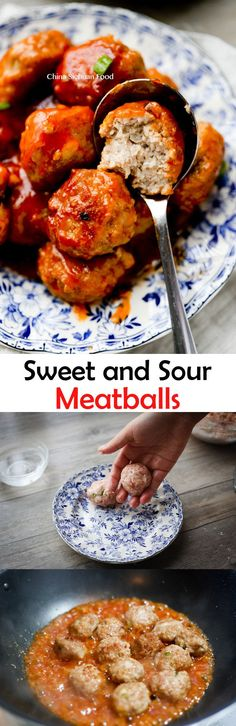 Chinese sweet and sour meatballs Pork Recipes, Asian Recipes, Cooking Recipes, Ethnic Recipes, Sweet And Sour Meatballs, Time To Eat, Sauce, Main Meals, Food To Make
